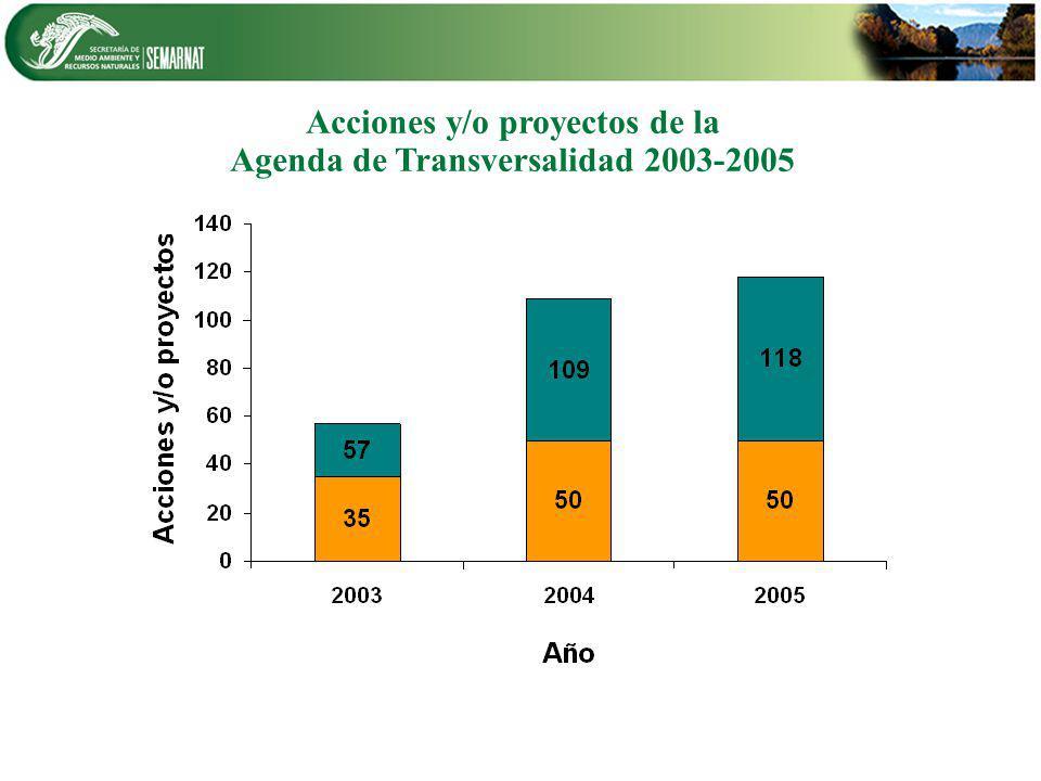 Acciones y/o proyectos de la Agenda de Transversalidad 2003-2005