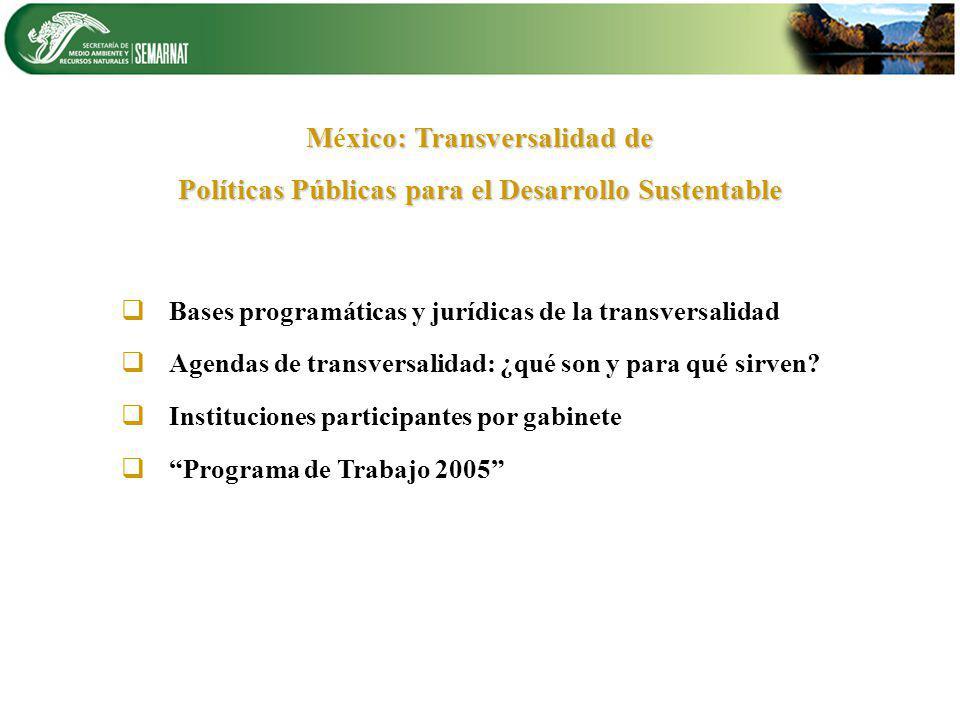 México: Transversalidad de