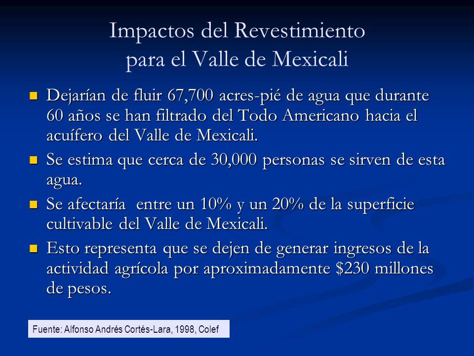 Impactos del Revestimiento para el Valle de Mexicali