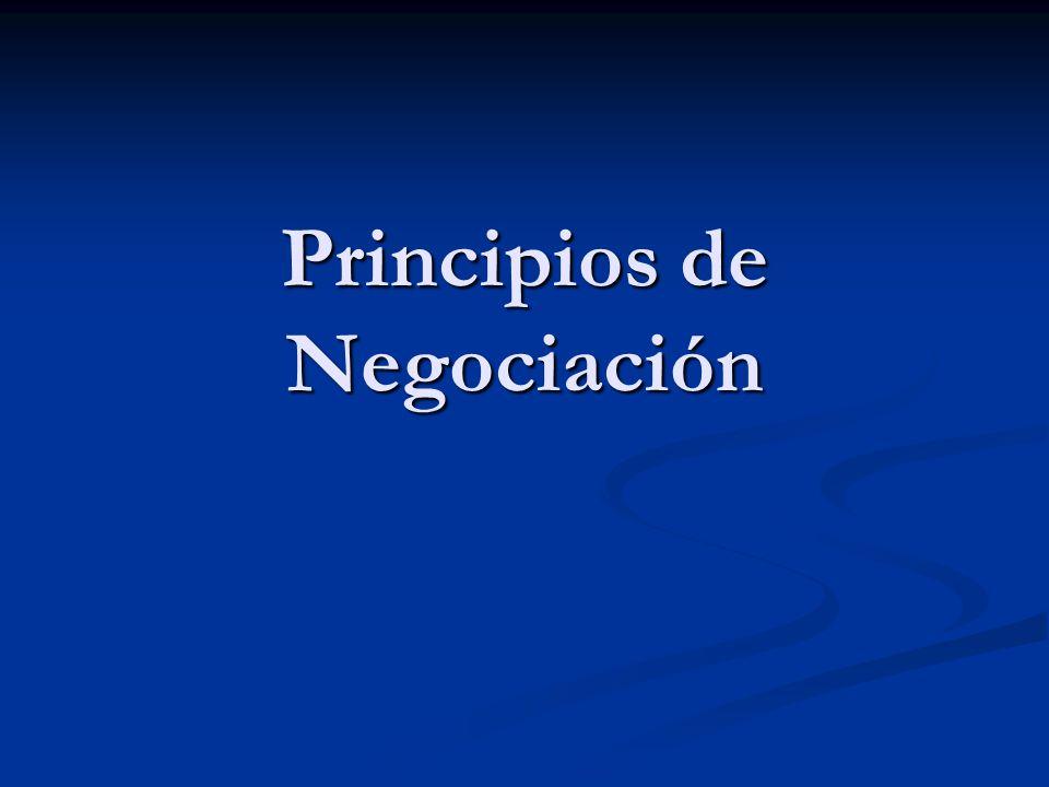 Principios de Negociación