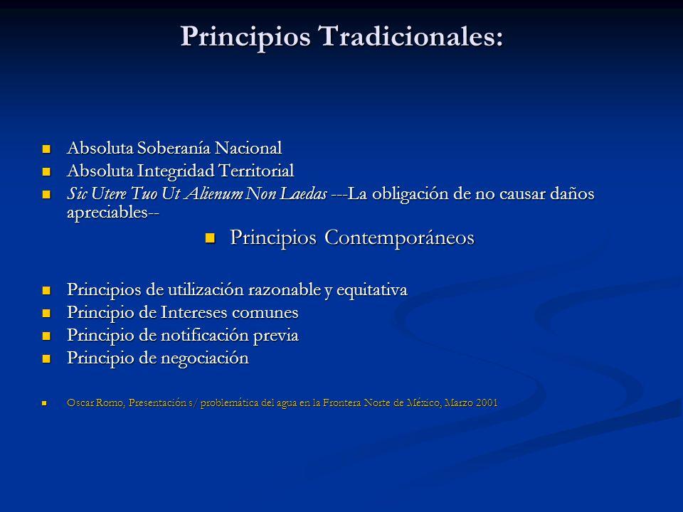 Principios Tradicionales: