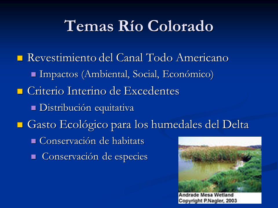 Temas Río Colorado Revestimiento del Canal Todo Americano