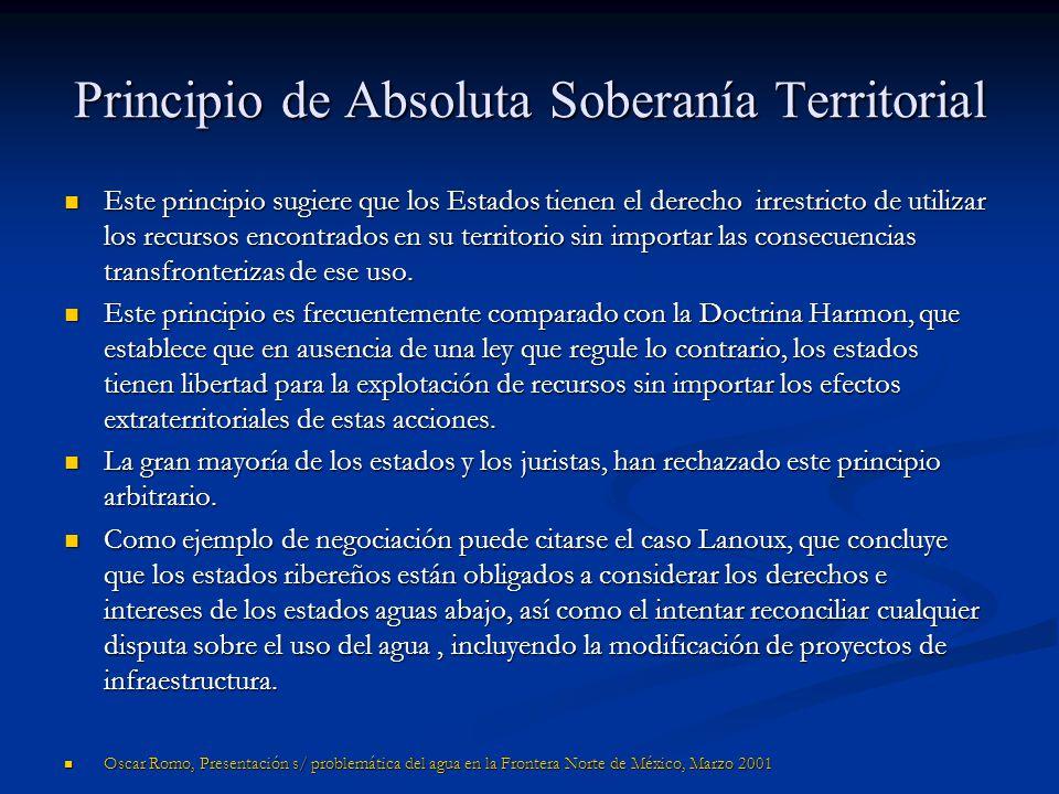Principio de Absoluta Soberanía Territorial