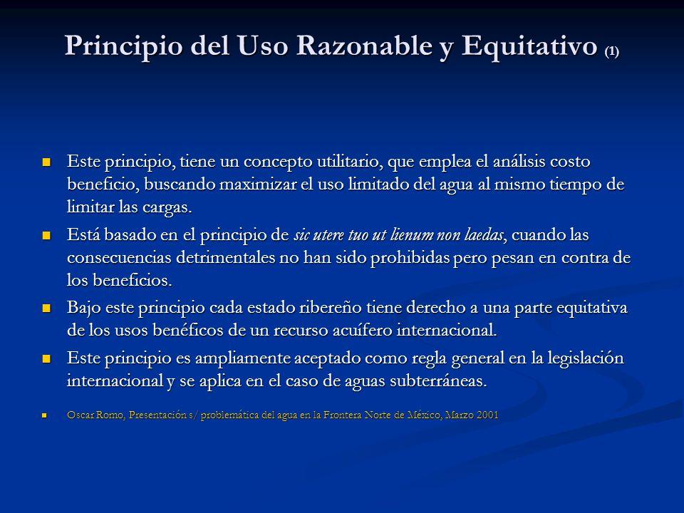Principio del Uso Razonable y Equitativo (1)