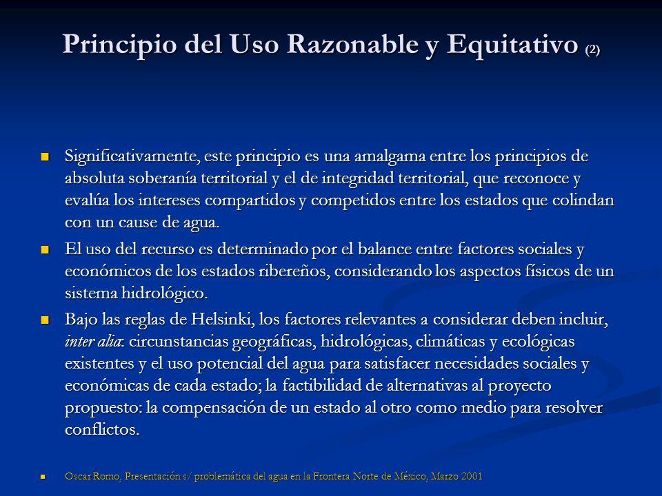 Principio del Uso Razonable y Equitativo (2)