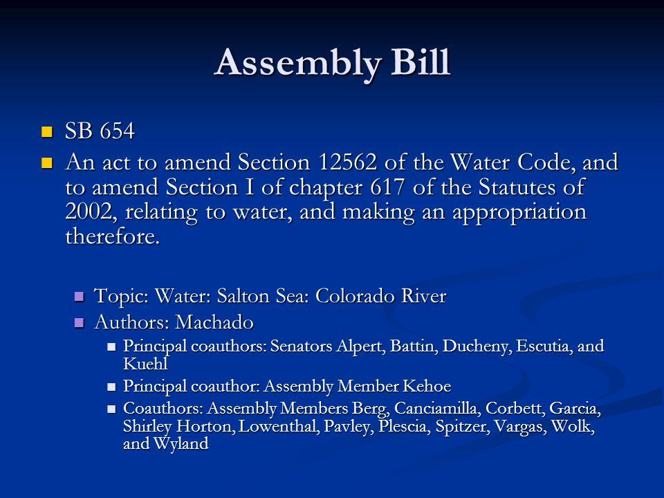 Assembly Bill SB 654.