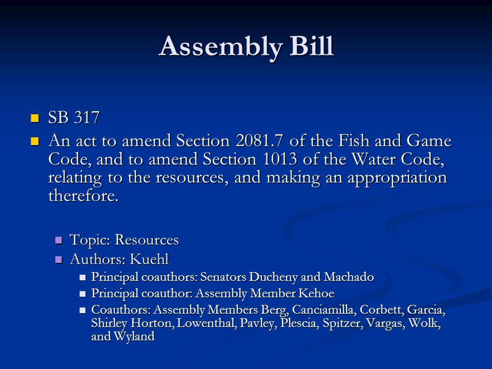 Assembly Bill SB 317.