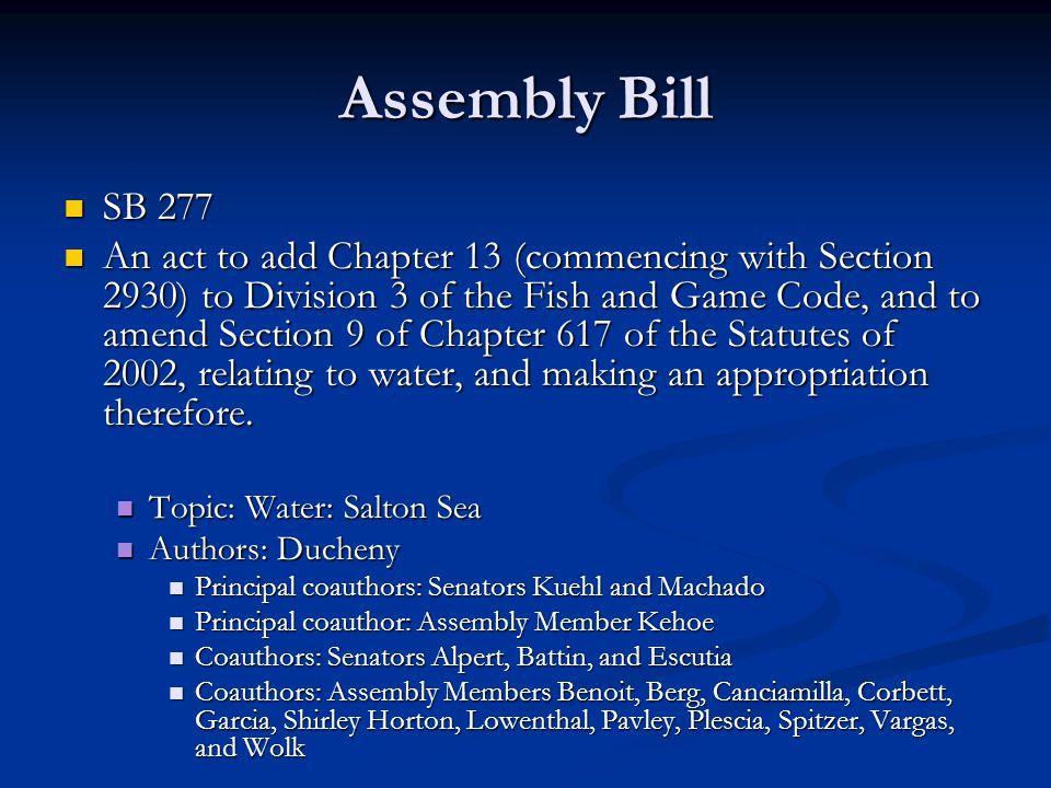 Assembly Bill SB 277.