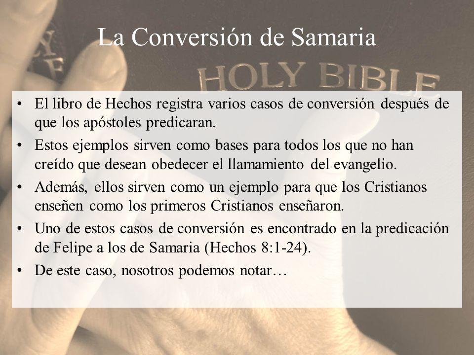 La Conversión de Samaria
