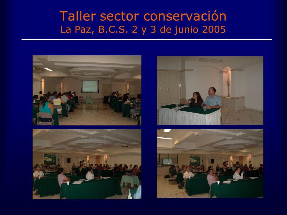 Taller sector conservación La Paz, B.C.S. 2 y 3 de junio 2005