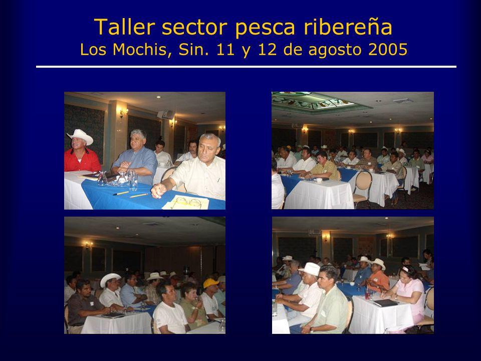 Taller sector pesca ribereña Los Mochis, Sin. 11 y 12 de agosto 2005