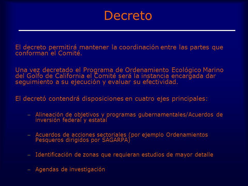 Decreto El decreto permitirá mantener la coordinación entre las partes que conforman el Comité.