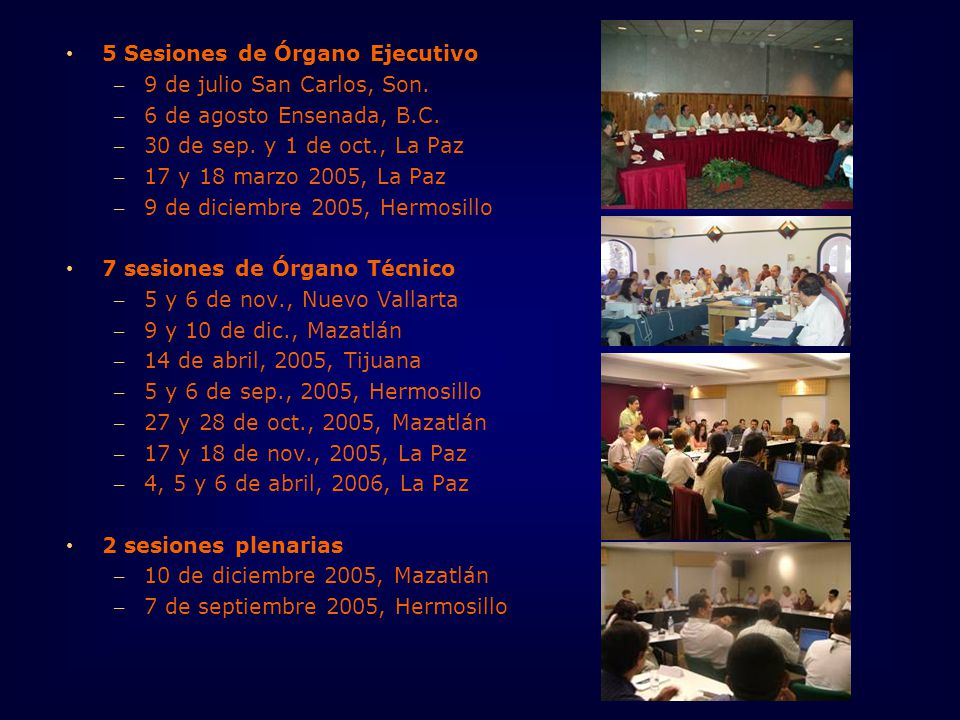 5 Sesiones de Órgano Ejecutivo