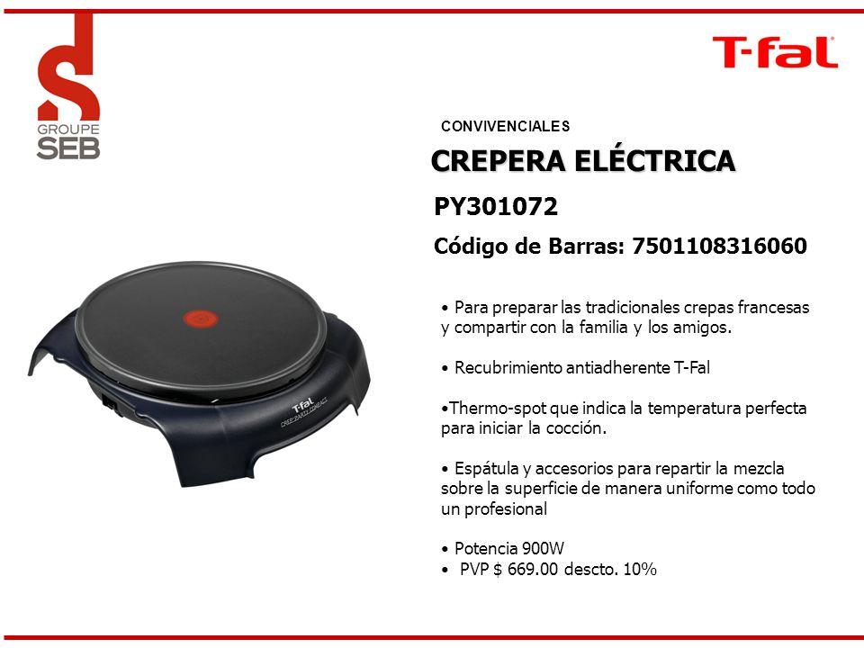 CREPERA ELÉCTRICA PY301072 Código de Barras: 7501108316060