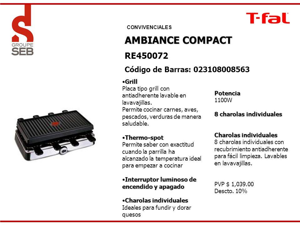 AMBIANCE COMPACT RE450072 Código de Barras: 023108008563 Grill