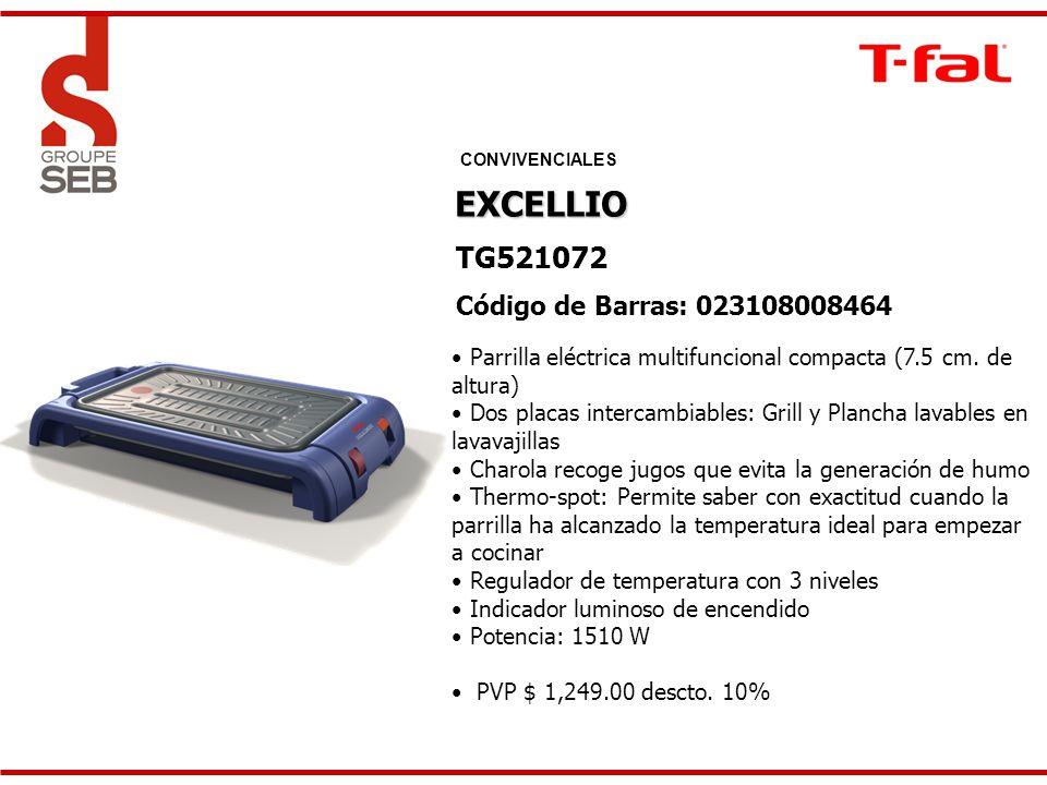 EXCELLIO TG521072 Código de Barras: 023108008464