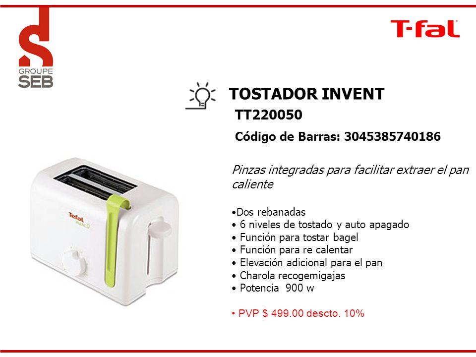 TOSTADOR INVENT TT220050 Código de Barras: 3045385740186