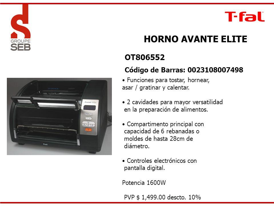 HORNO AVANTE ELITE OT806552 Código de Barras: 0023108007498