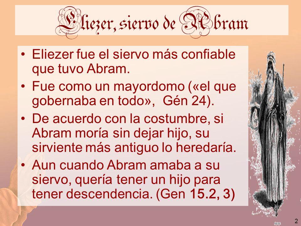 Eliezer, siervo de Abram