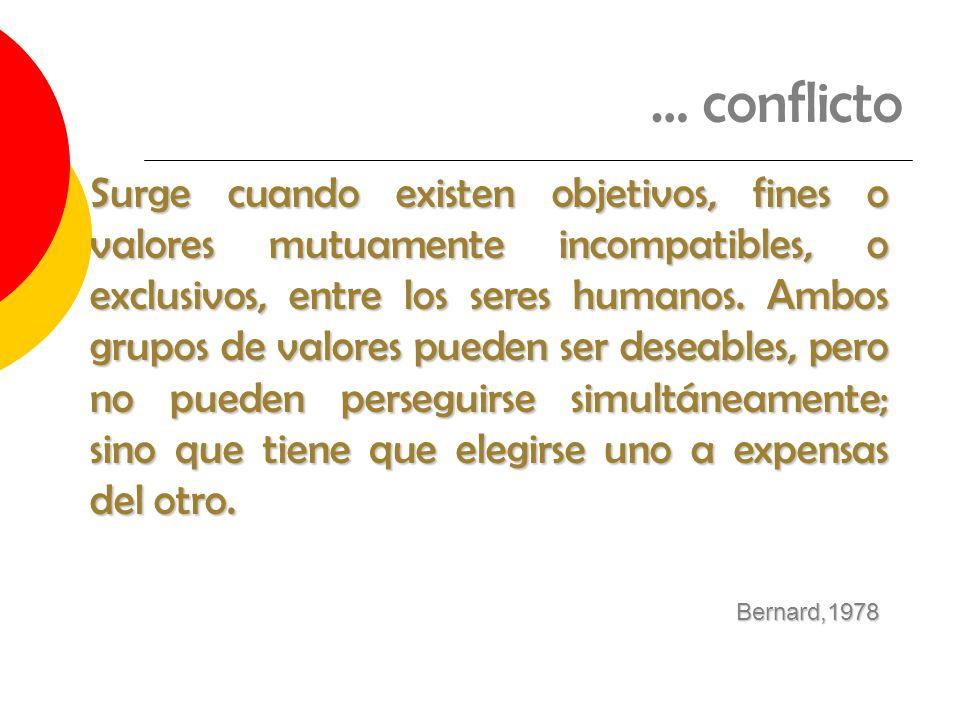 … conflicto