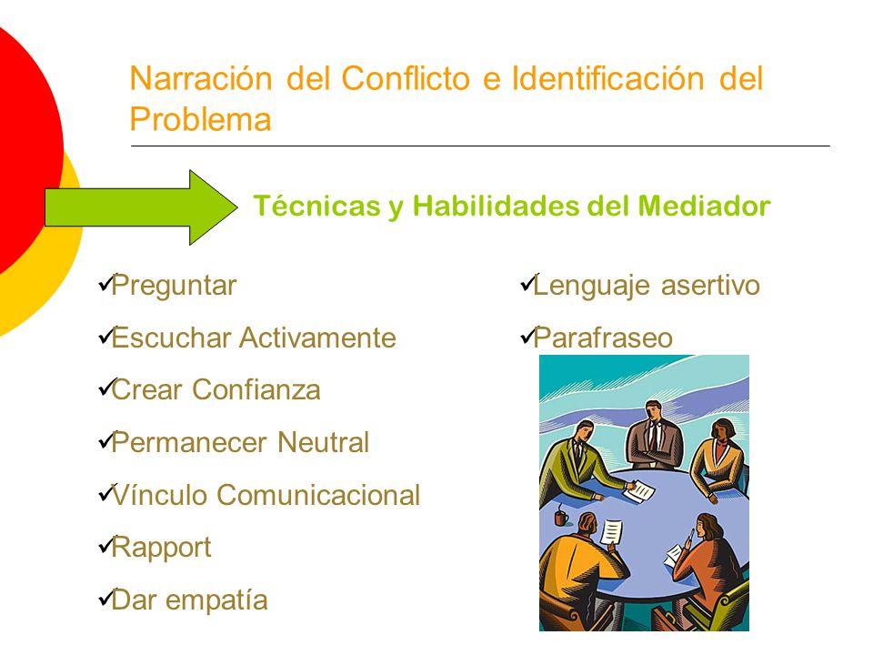 Narración del Conflicto e Identificación del Problema