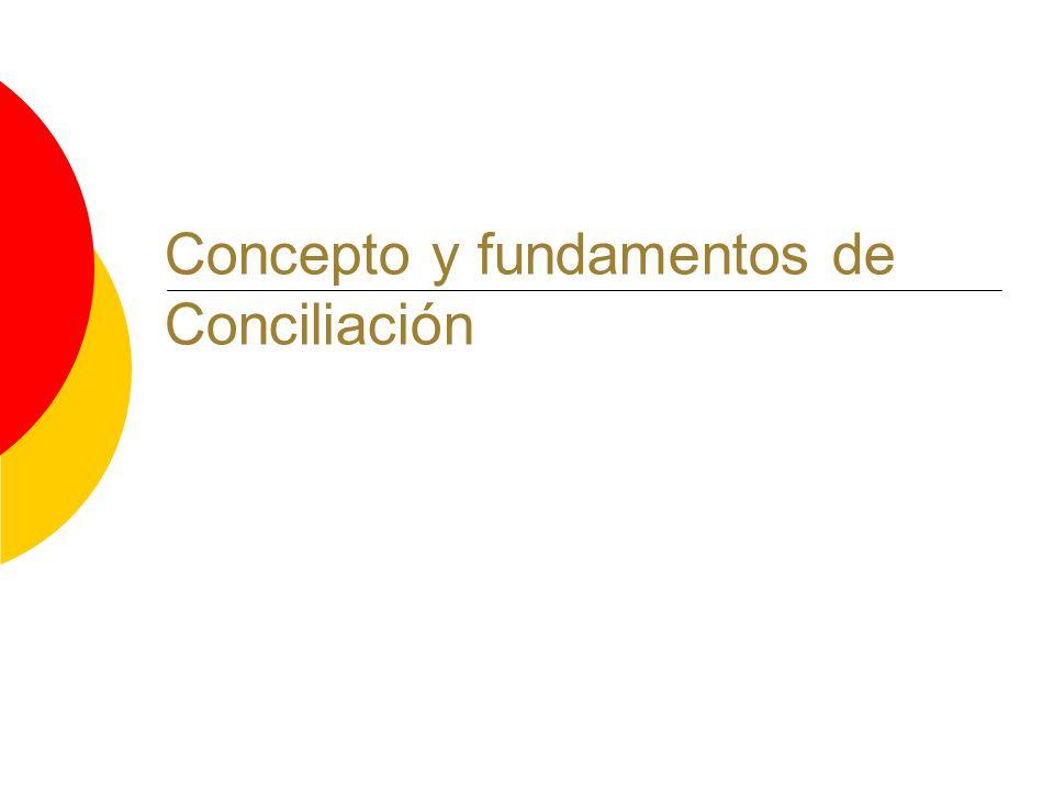 Concepto y fundamentos de Conciliación