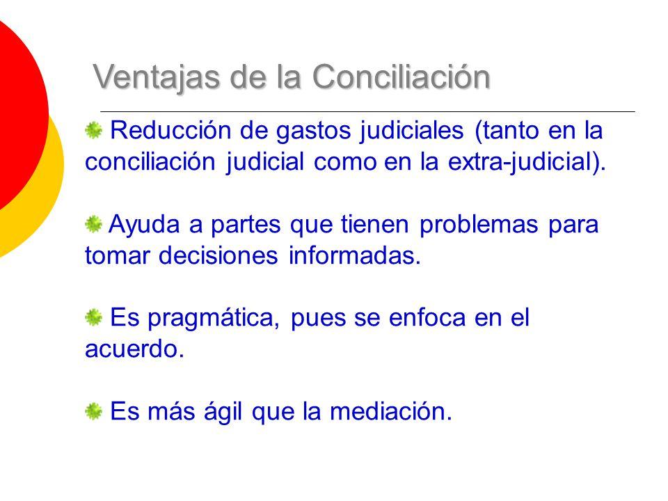 Ventajas de la Conciliación
