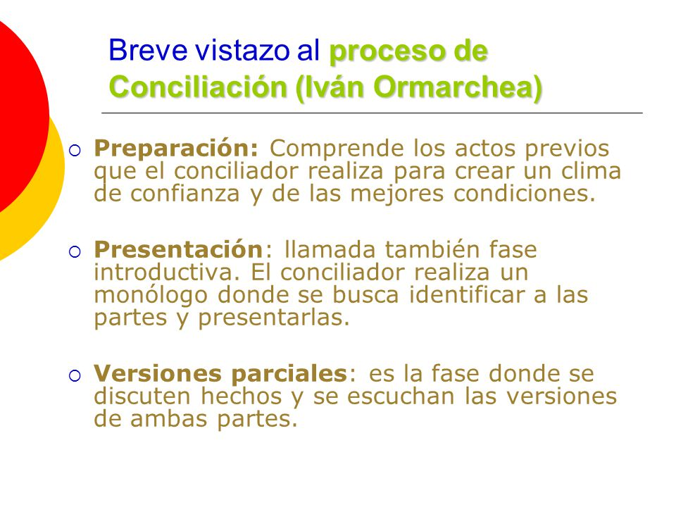 Breve vistazo al proceso de Conciliación (Iván Ormarchea)