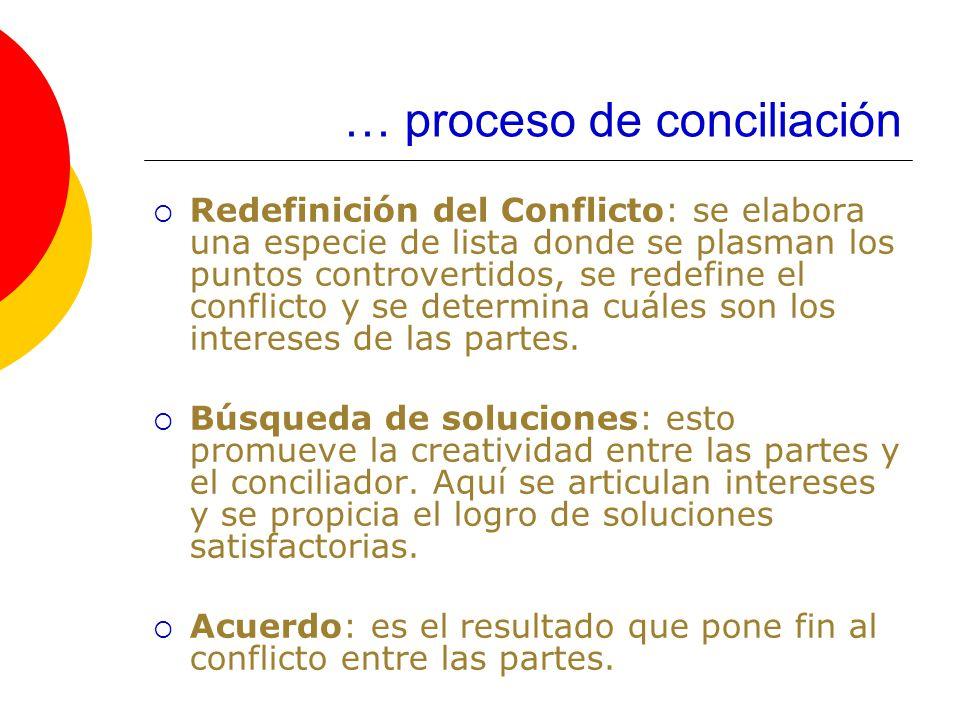 … proceso de conciliación