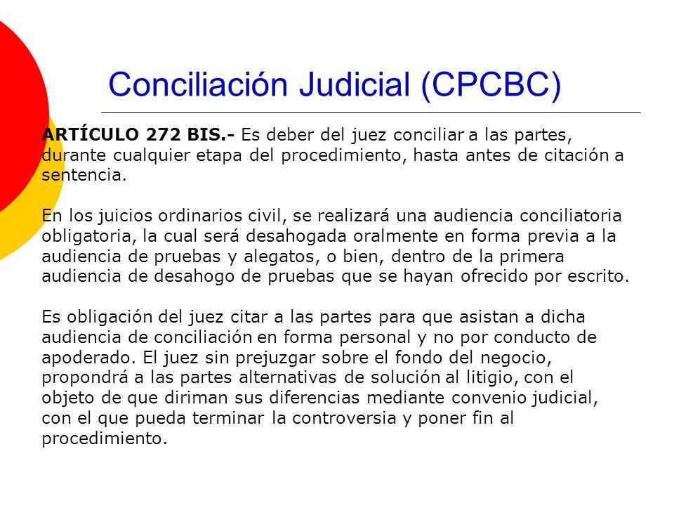 Conciliación Judicial (CPCBC)