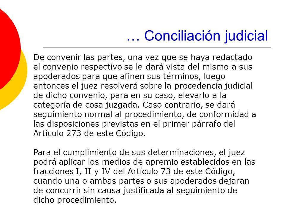 … Conciliación judicial