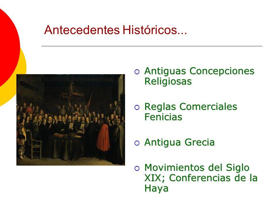 Antecedentes Históricos...