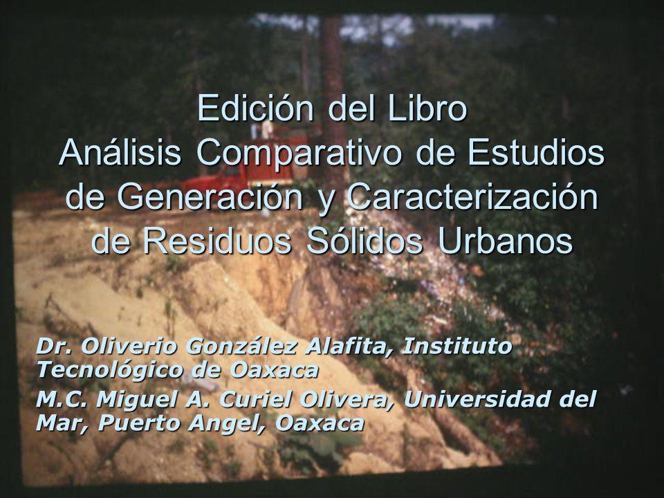 Edición del Libro Análisis Comparativo de Estudios de Generación y Caracterización de Residuos Sólidos Urbanos