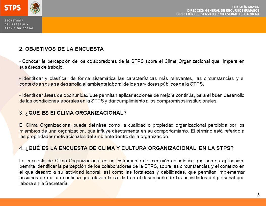 MEDICIÓN DE CLIMA Y CULTURA ORGANIZACIONAL EN LA STPS - ppt descargar