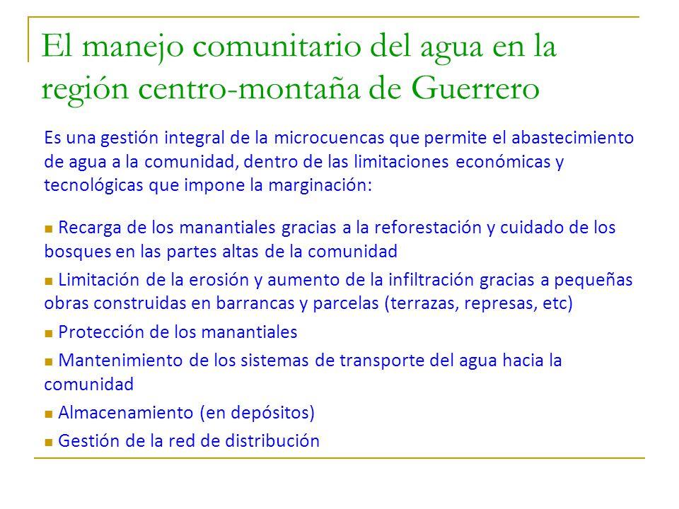 El manejo comunitario del agua en la región centro-montaña de Guerrero