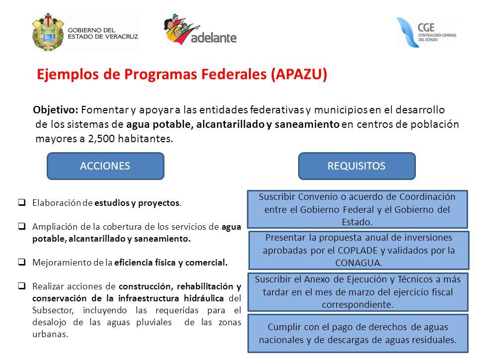 Ejemplos de Programas Federales (APAZU)
