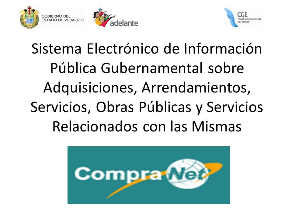 Sistema Electrónico de Información Pública Gubernamental sobre Adquisiciones, Arrendamientos, Servicios, Obras Públicas y Servicios Relacionados con las Mismas
