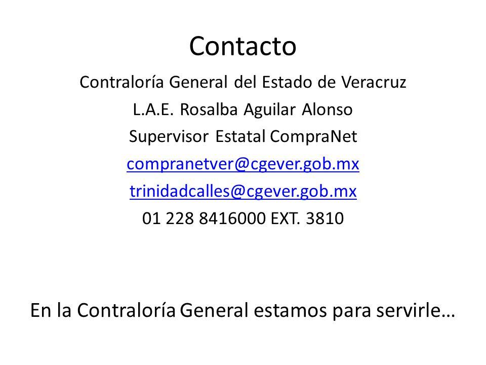 Contacto En la Contraloría General estamos para servirle…