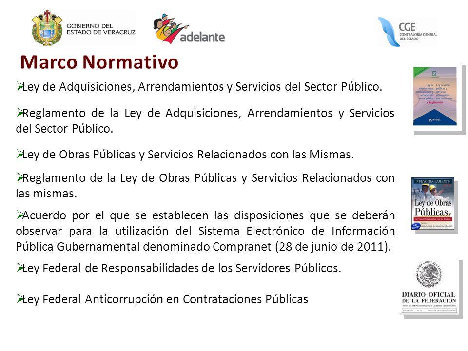 Marco Normativo Ley de Adquisiciones, Arrendamientos y Servicios del Sector Público.