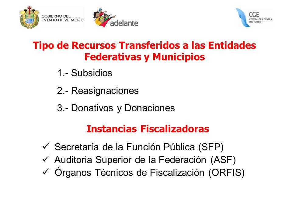 Tipo de Recursos Transferidos a las Entidades Federativas y Municipios