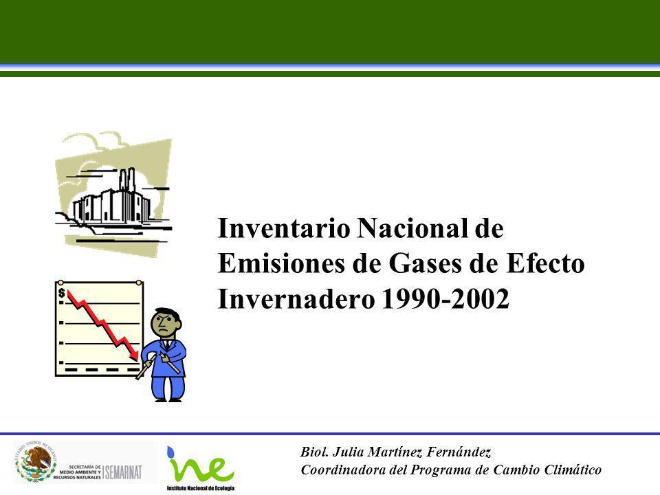Inventario Nacional de Emisiones de Gases de Efecto Invernadero 1990-2002
