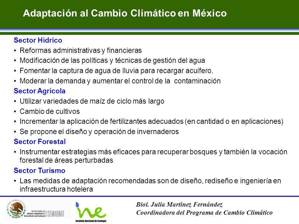 Adaptación al Cambio Climático en México