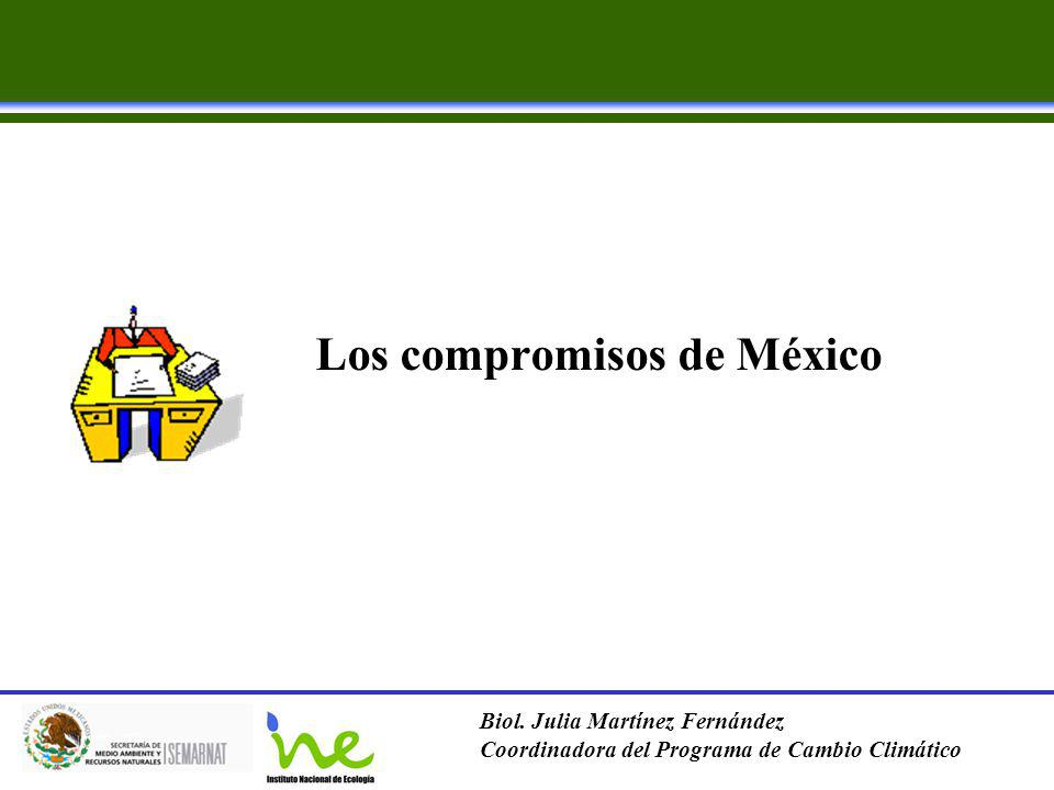 Los compromisos de México