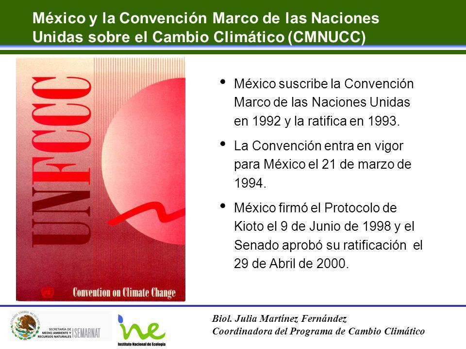 México y la Convención Marco de las Naciones Unidas sobre el Cambio Climático (CMNUCC)