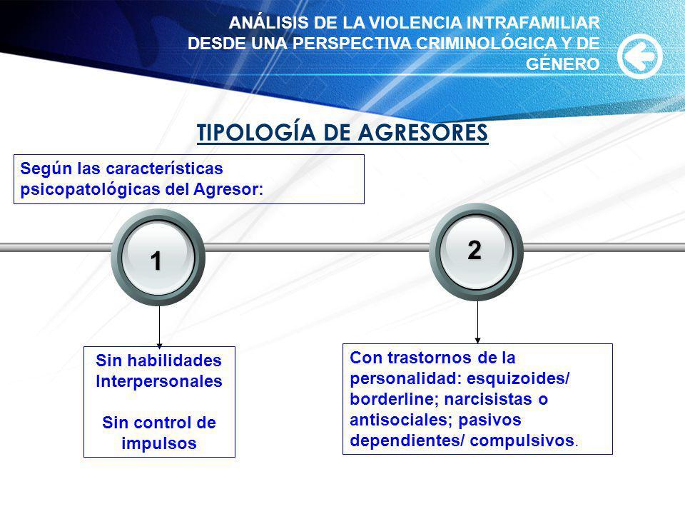 2 1 TIPOLOGÍA DE AGRESORES Your Text