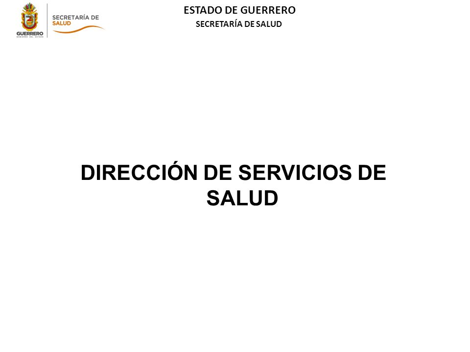 DIRECCIÓN DE SERVICIOS DE SALUD
