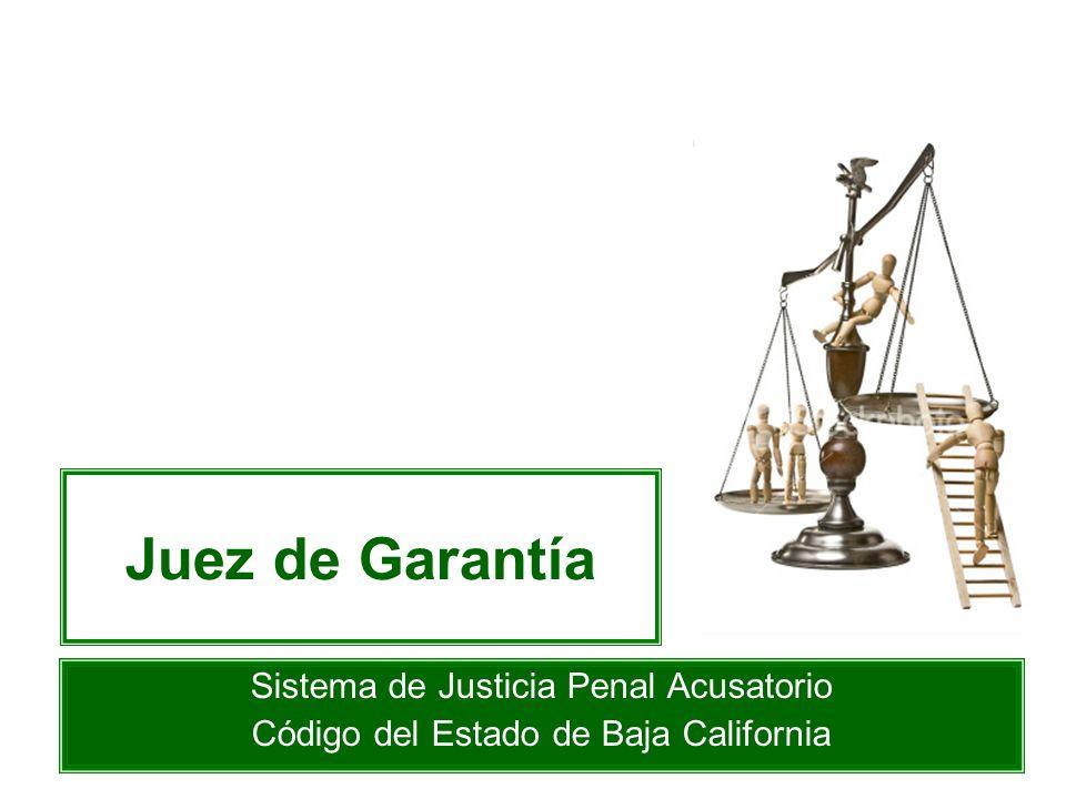 Juez de Garantía Sistema de Justicia Penal Acusatorio