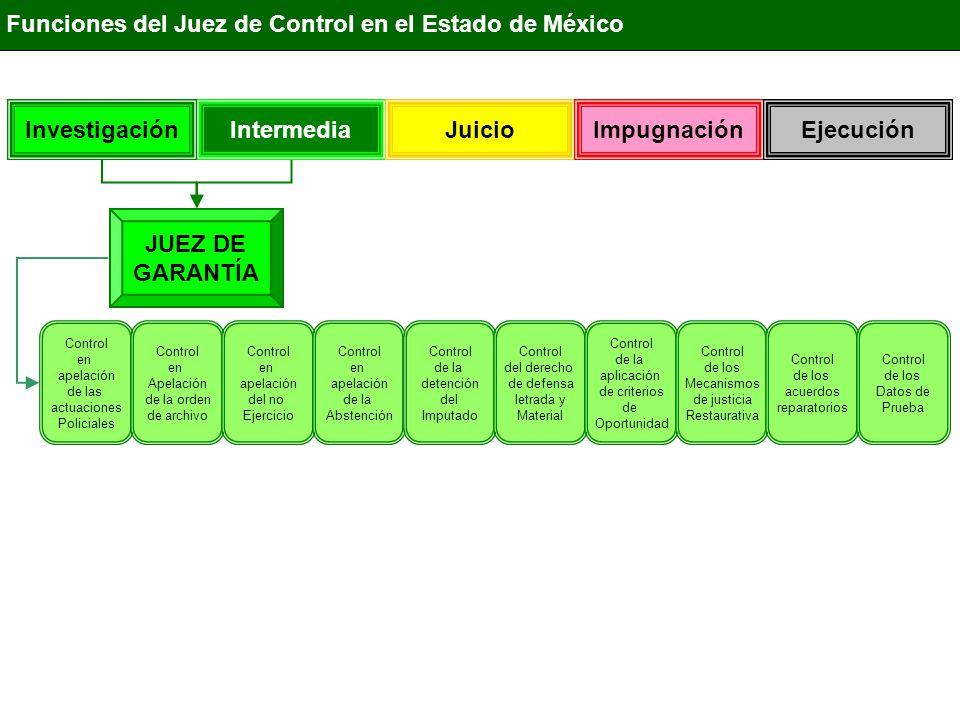 Investigación Intermedia Juicio Impugnación Ejecución JUEZ DE GARANTÍA