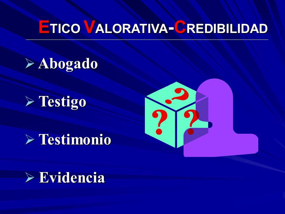 ETICO VALORATIVA-CREDIBILIDAD