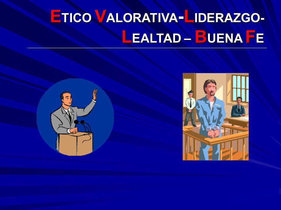 ETICO VALORATIVA-LIDERAZGO- LEALTAD – BUENA FE